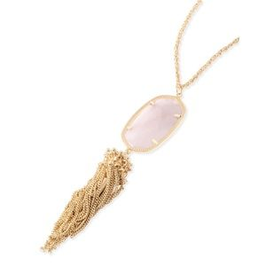 Kendra Scott Rayne Necklace Rose Quartz